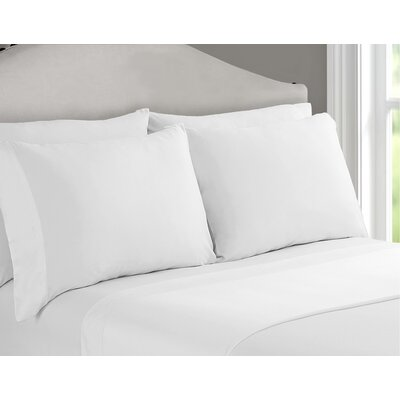 Richfield Rayon from Bamboo 250 Thread Count Sheet Set Size: Queen, Color: White