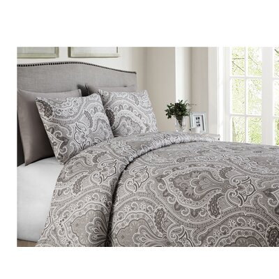 Wolf Hills Reversible Duvet Set Size: Queen, Color: Taupe