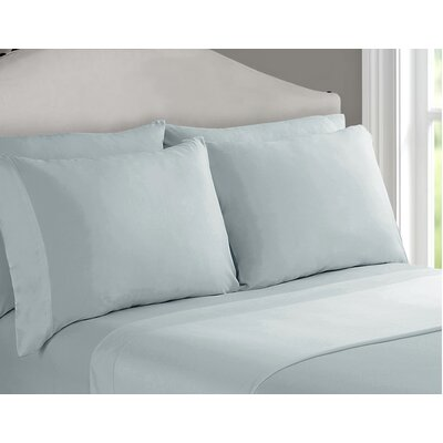 Richfield Rayon from Bamboo 250 Thread Count Sheet Set Size: Queen, Color: Sky