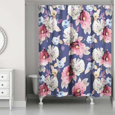 Arnott Floral Print Shower Curtain
