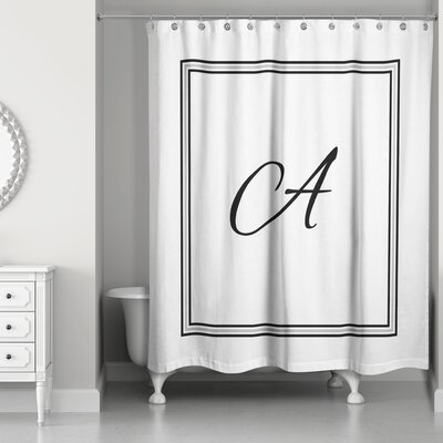Ashbrook Classic Monogrammed Shower Curtain Letter: A