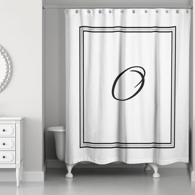 Ashbrook Classic Monogrammed Shower Curtain Letter: O