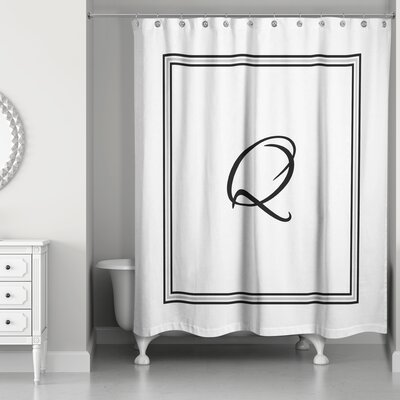 Ashbrook Classic Monogrammed Shower Curtain Letter: Q