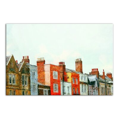 'European Row Houses' Acrylic Painting Print on Canvas Format: Wrapped Canvas, Size: 12