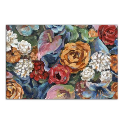 'Floral Fiesta' Acrylic Painting Print on Canvas Format: Wrapped Canvas, Size: 16