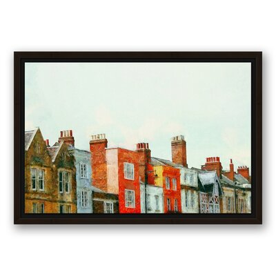 'European Row Houses' Acrylic Painting Print on Canvas Format: Framed, Size: 12
