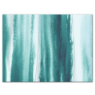 'Coastal Waves' Watercolor Painting Print Size: 12