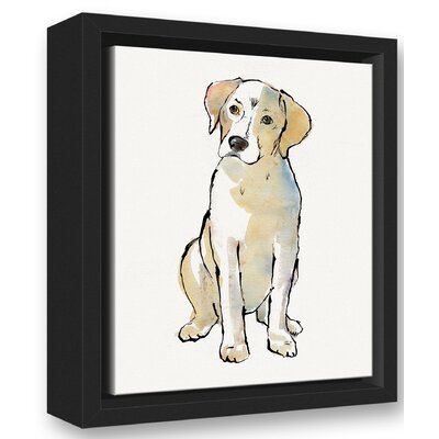 'Yellow Labrador Dog Black' Graphic Art Print Size: 10