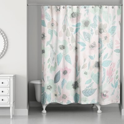 Hamptonburgh Watercolor Garden Floral Shower Curtain