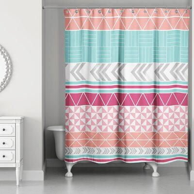 Hector Boho Tribal Shower Curtain