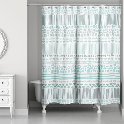 Trevor Boho Tribal Shower Curtain