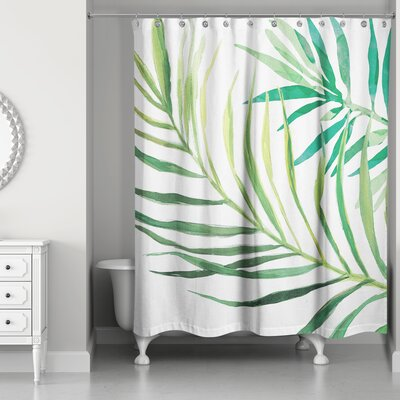 Donte Watercolor Palms Shower Curtain