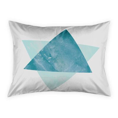 Hanlin Watercolor Triangles Sham Size: Standard