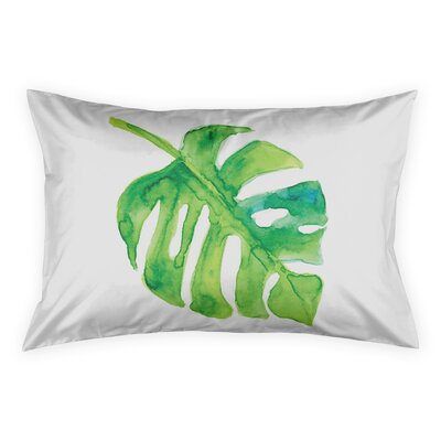 Hanson Watercolor Palms Sham Size: King