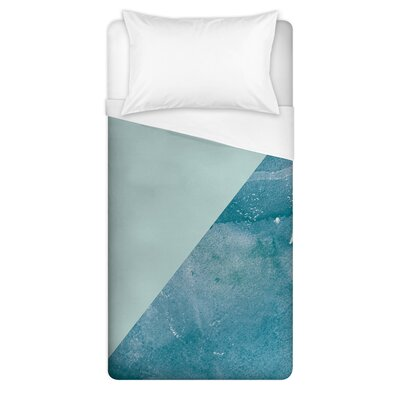 Corp Watercolor Triangles Duvet Cover Size: Twin