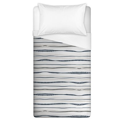 Gisela Wavy Duvet Cover Size: Full/Queen