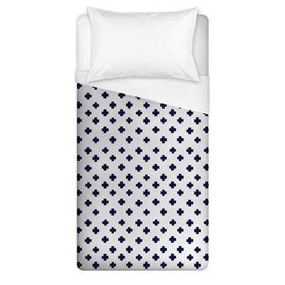 Norma Swiss Cross Duvet Cover Size: Full/Queen
