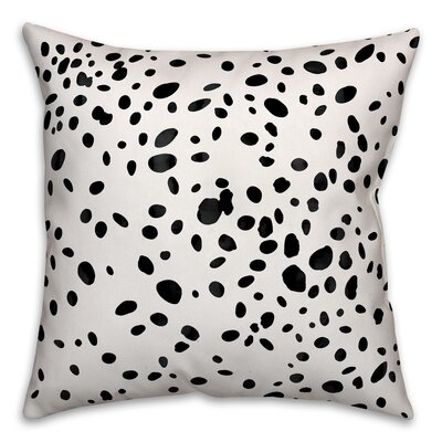 Corrales Dalmatian Spots Throw Pillow Size: 18 x 18