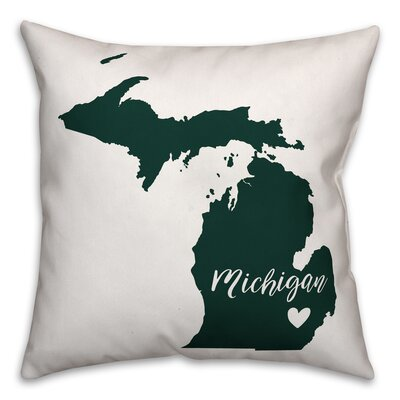 Michigan Pride Square Throw Pillow