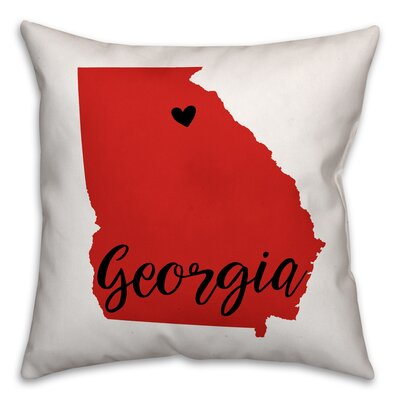 Georgia Pride Square Throw Pillow