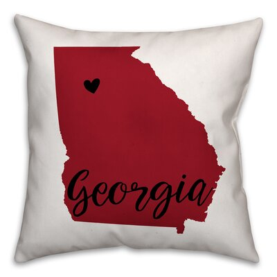 Georgia Pride Throw Pillow