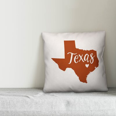 Modern Texas Pride Throw Pillow