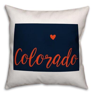 Colorado Pride Throw Pillow