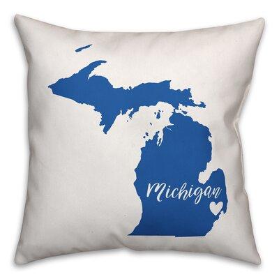 Michigan Pride Throw Pillow