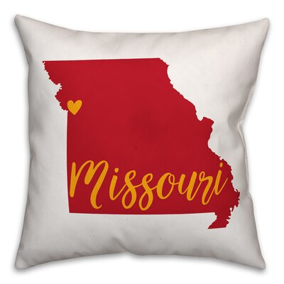 Missouri Pride Throw Pillow