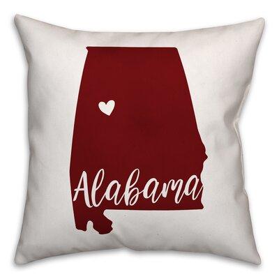 Alabama Go Team Square Throw Pillow