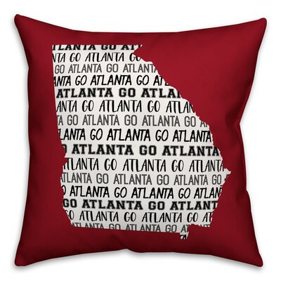 Georgia Go Team Throw Pillow