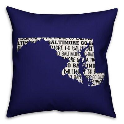 Maryland Go Team Throw Pillow