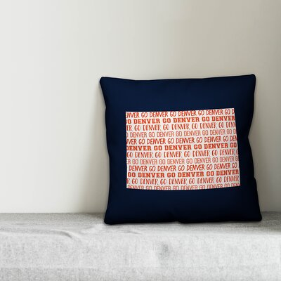 Colorado Go Team Throw Pillow