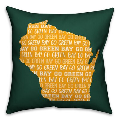 Wisconsin Go Team Throw Pillow