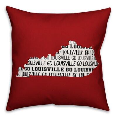 Kentucky Go Team Square Throw Pillow