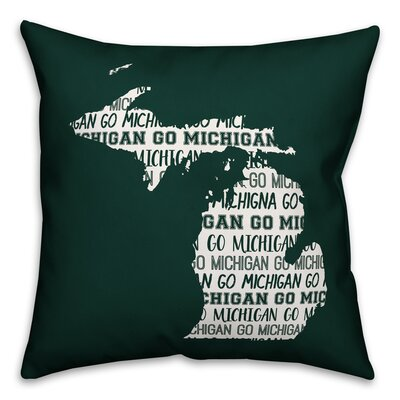 Michigan Go Team Throw Pillow