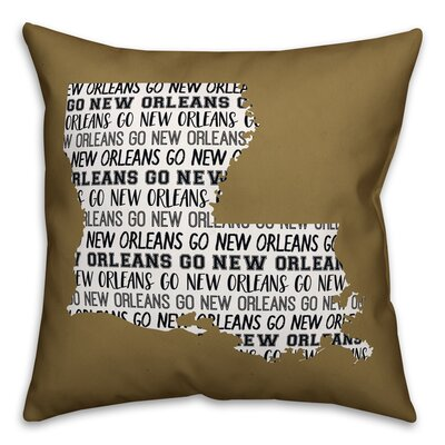 Louisiana Go Team �Throw Pillow