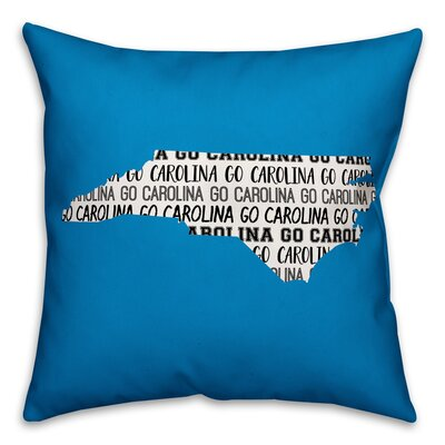 North Carolina Go Team Throw Pillow