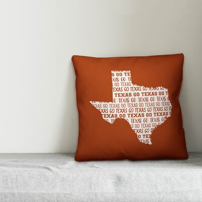 Texas Go Team Square Throw Pillow
