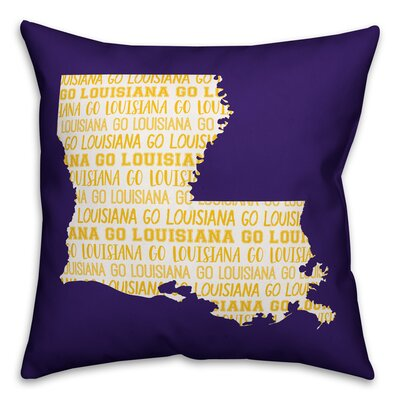 Louisiana Go Team Square Throw Pillow