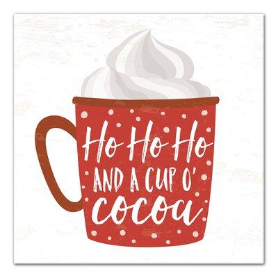 'A Cup O'Cocoa' Textual Art on Canvas WNPR8264 42771056