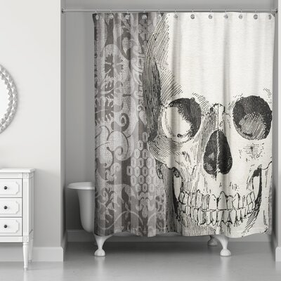 Skeletons Head Shower Curtain
