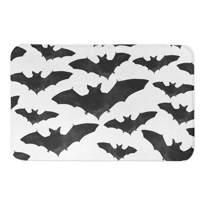 Bat Print Bath Rug
