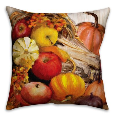 Fall Cornucopia Throw Pillow Pillow Use: Indoor