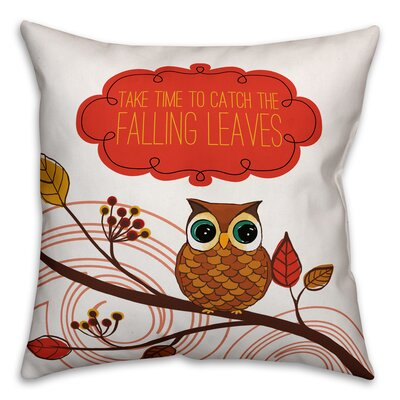 Friendly Fall Reminder Throw Pillow Pillow Use: Indoor