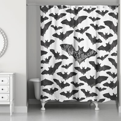 Im Batty for Halloween Shower Curtain
