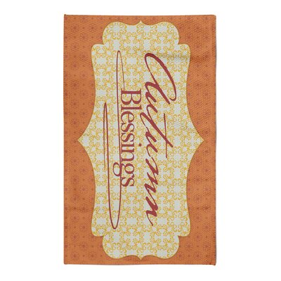 Burmuda Autumn Blessings Orange/Yellow Area Rug