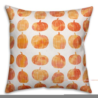 Pumpkins Double Sided Print Throw Pillow Pillow Use: Outdoor