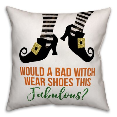 Bad Witch Fabulous Shoes Throw Pillow Pillow Use: Outdoor
