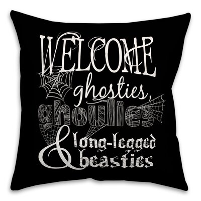 A Monster Welcome Throw Pillow Pillow Use: Outdoor